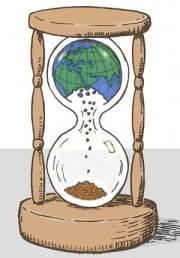 hourglass earth